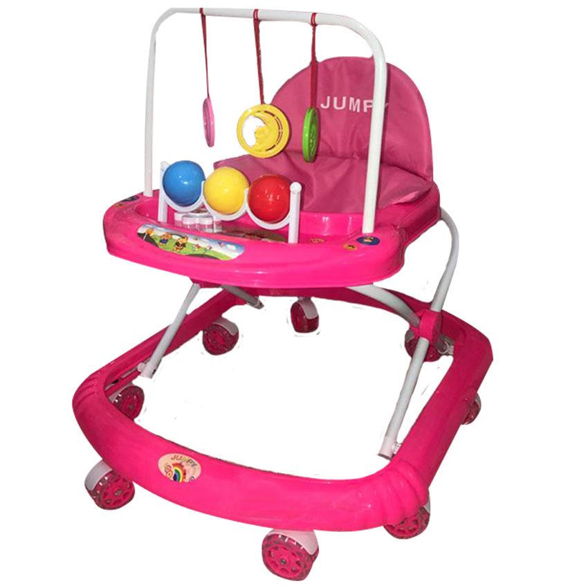 Caminador para bebé rosado