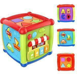 Cubo didáctico musical para bebé