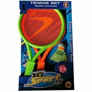 Set de 2 raquetas de tenis y bádminton